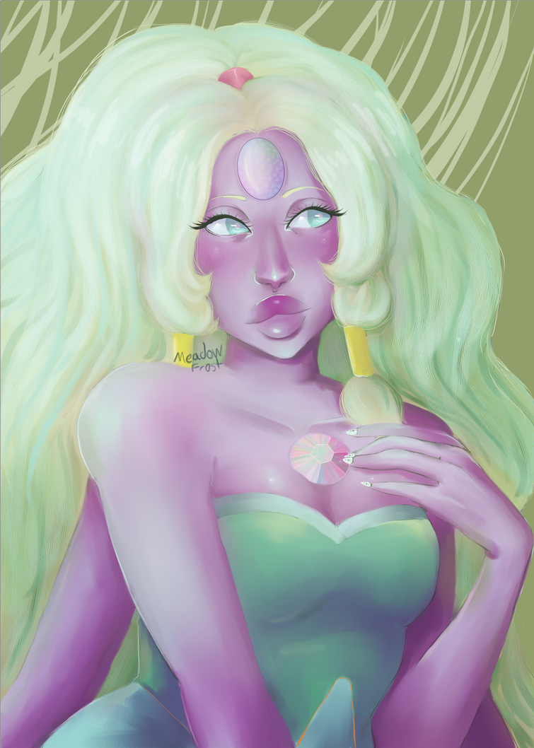 Opal from Steven Universe. Giant woman.