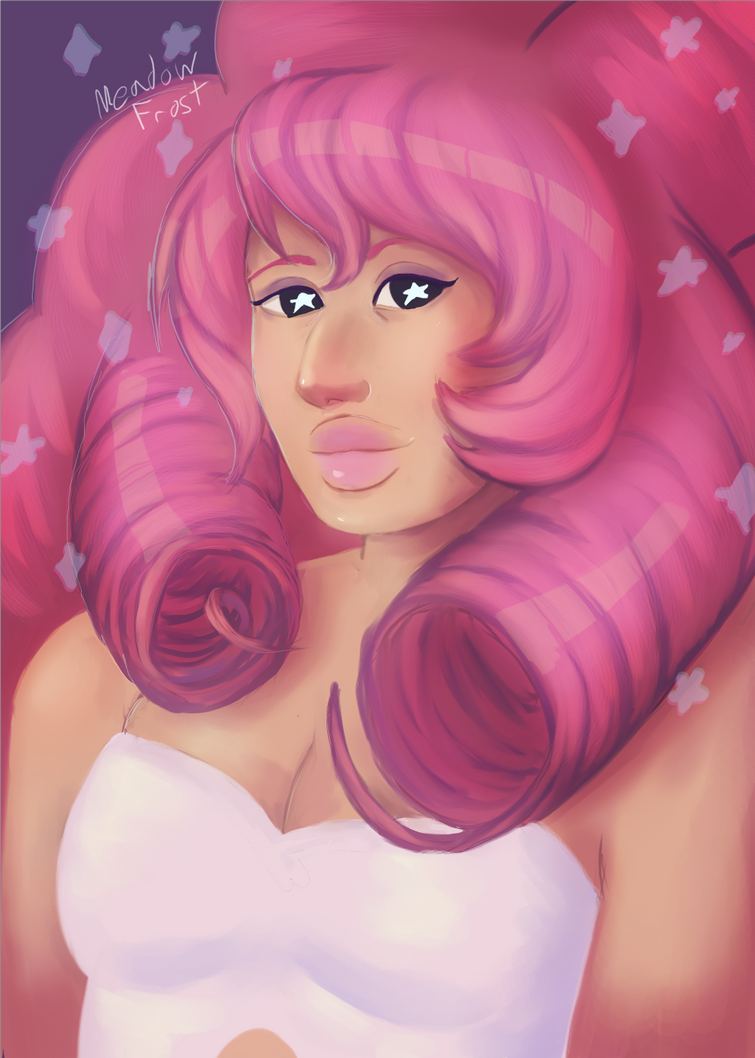 Rose Quartz from Steven Universe. I hadn't drawn anything SU in a while so I decided to doodle the mom.