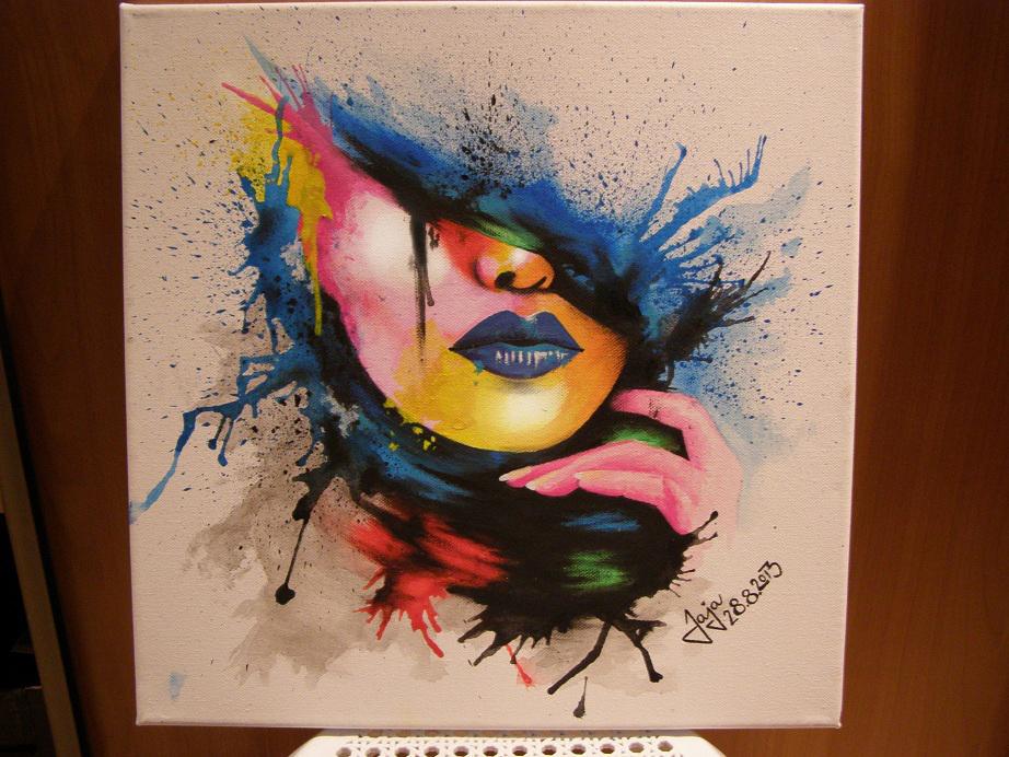 My third artwork on canvas by JajaPisjova ...