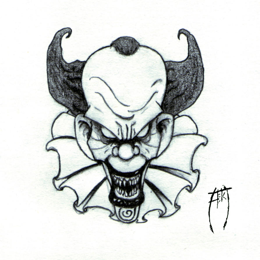 Evil Clown Drawings In Pencil Images & Pictures - Becuo