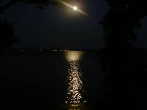 Waterfront and Moonlight After Dark [STOCK]