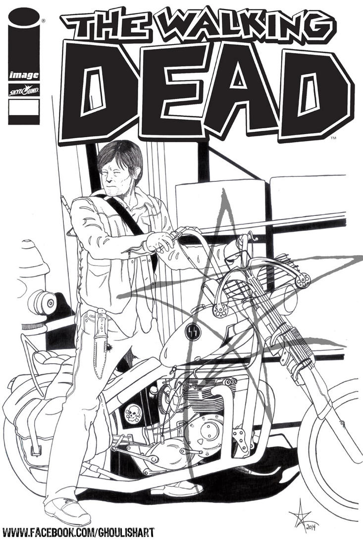 The Walking Dead: Daryl Dixon Cover Pin-Up by AzrielMordecai