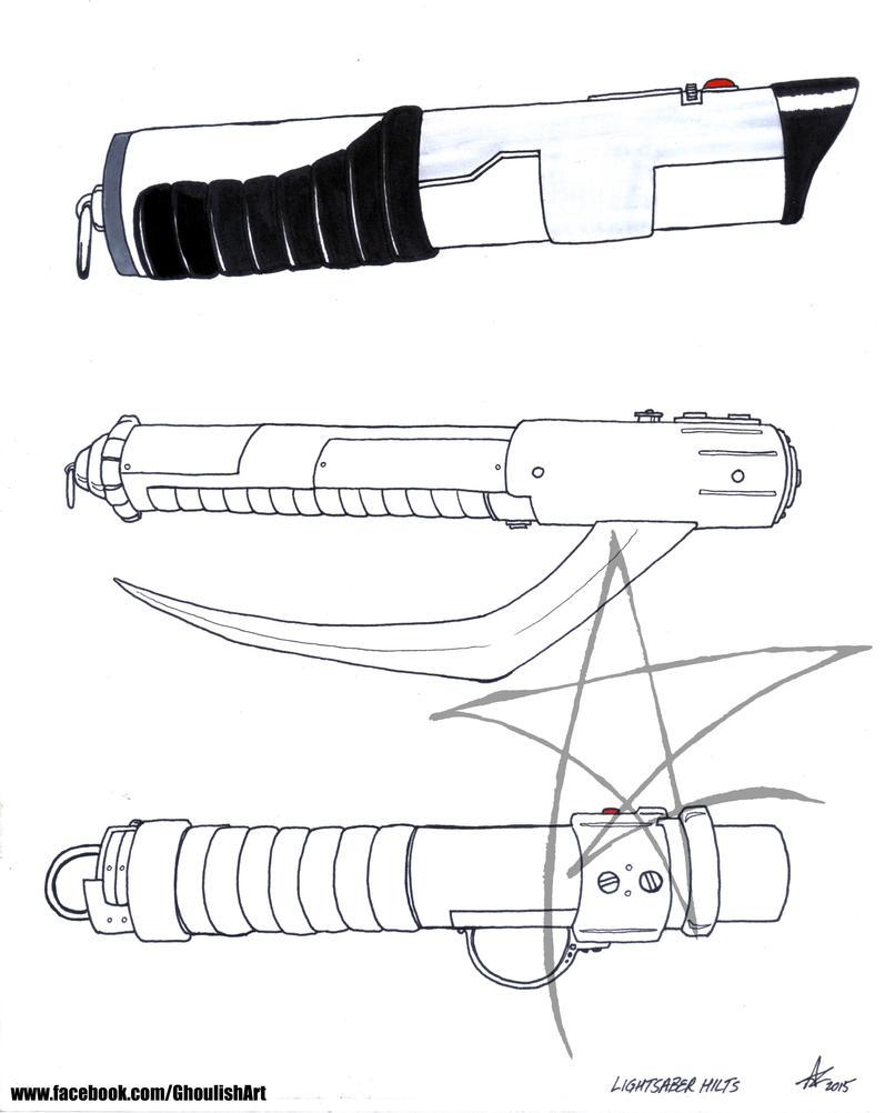 Lightsaber Hilt Designs 1 by AzrielMordecai