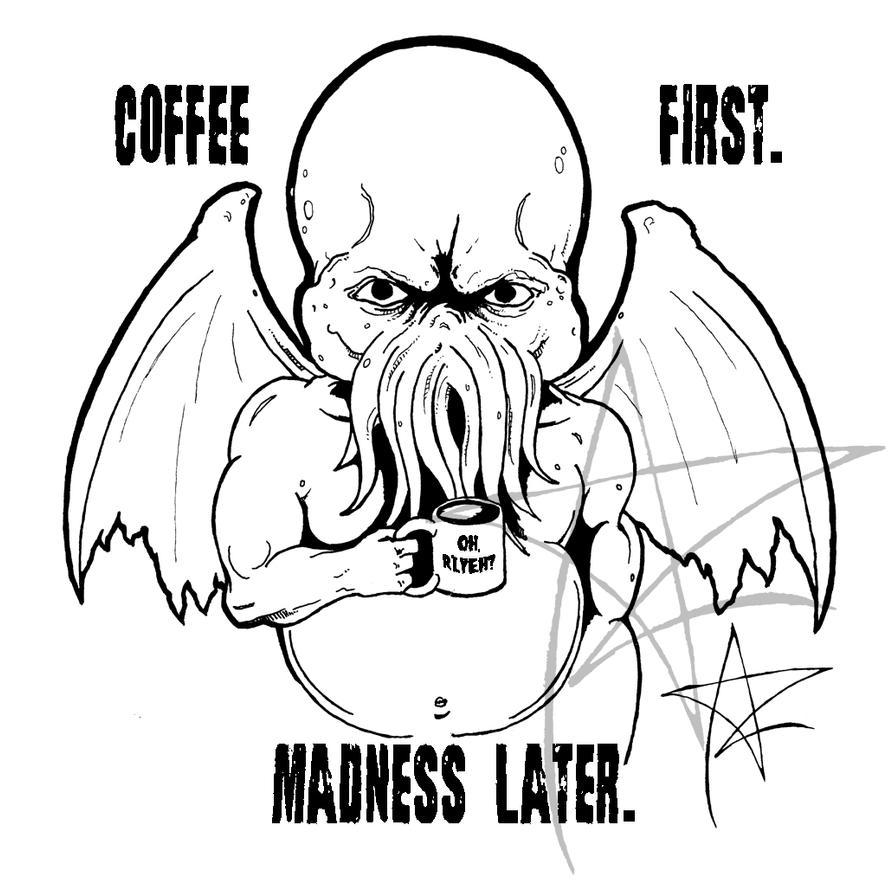 Coffee Cthulhu by AzrielMordecai