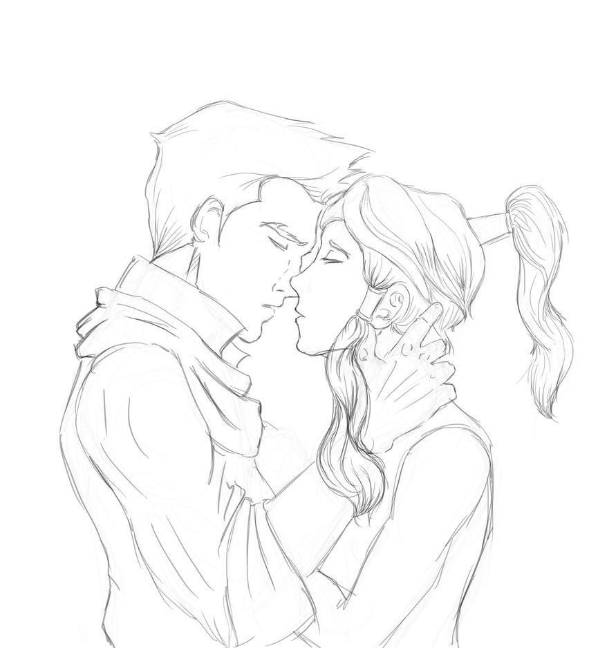 Mako Korra kiss_WIP by onCue5 on DeviantArt