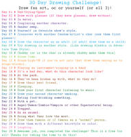 Drawing Challenge (Fan art, self or OC! ) by GanymedeZero