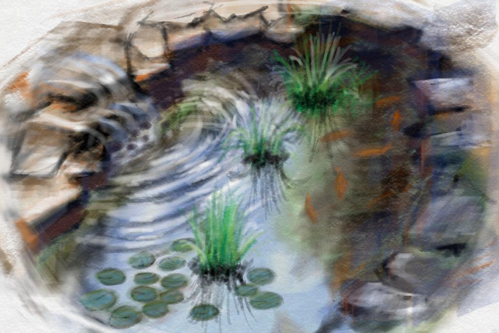 Koi pond by foxox on deviantart for Koi pond art