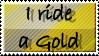 Gold Dragonrider Stamp by BloodyMoonLady