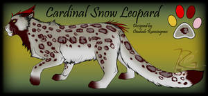 Cardinal Snow Leopard Hybrid Design for Taravia