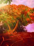 Autumn landscape. BG