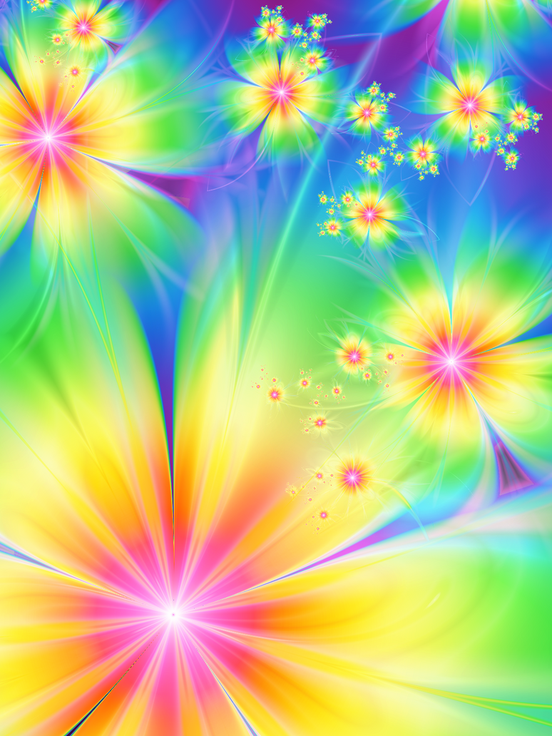 rainbow flowers wallpaper paintings - photo #18