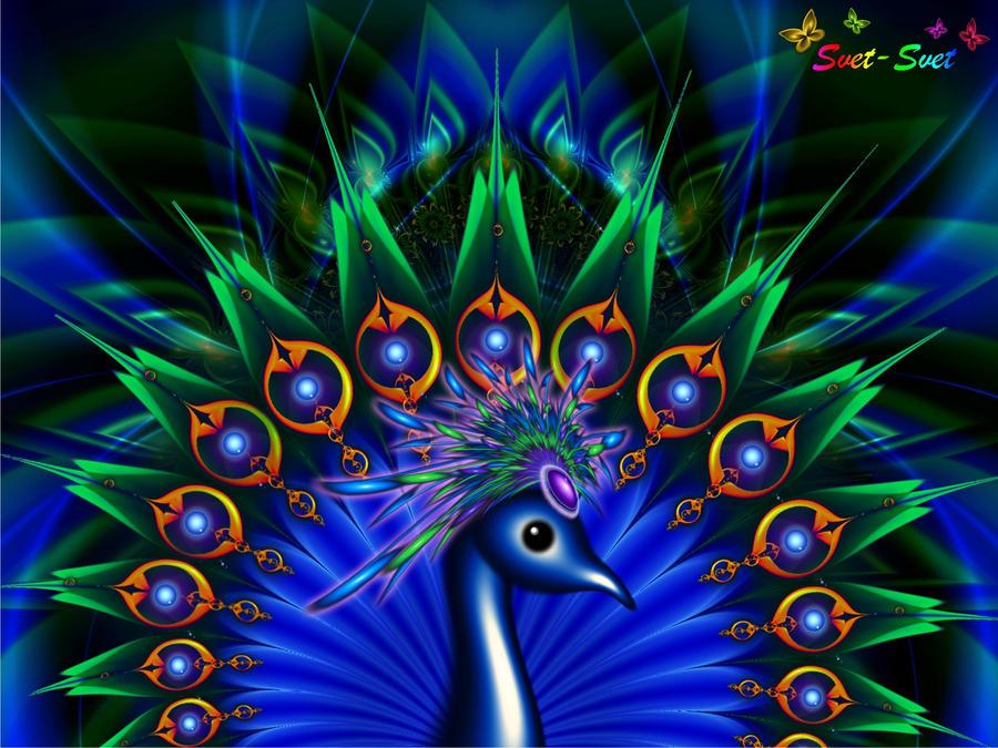 Blu Peacock by svet-svet