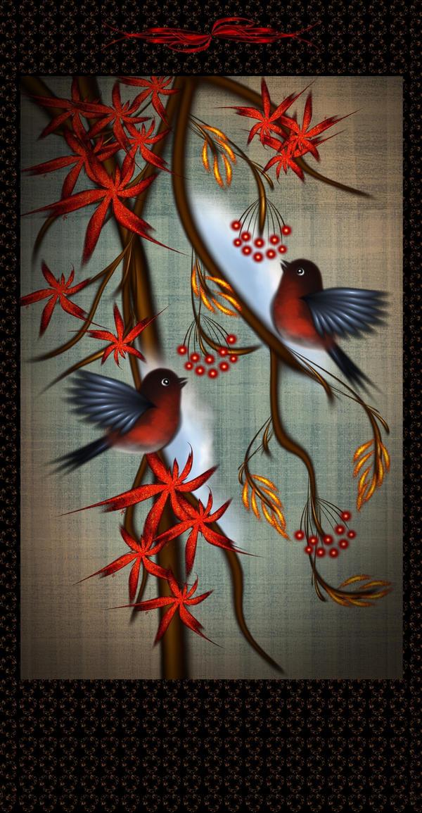 Bullfinches by svet-svet