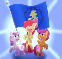 Cutie Mark Crusaders Forever! (+Speedpaint) by Digiko-Kagami