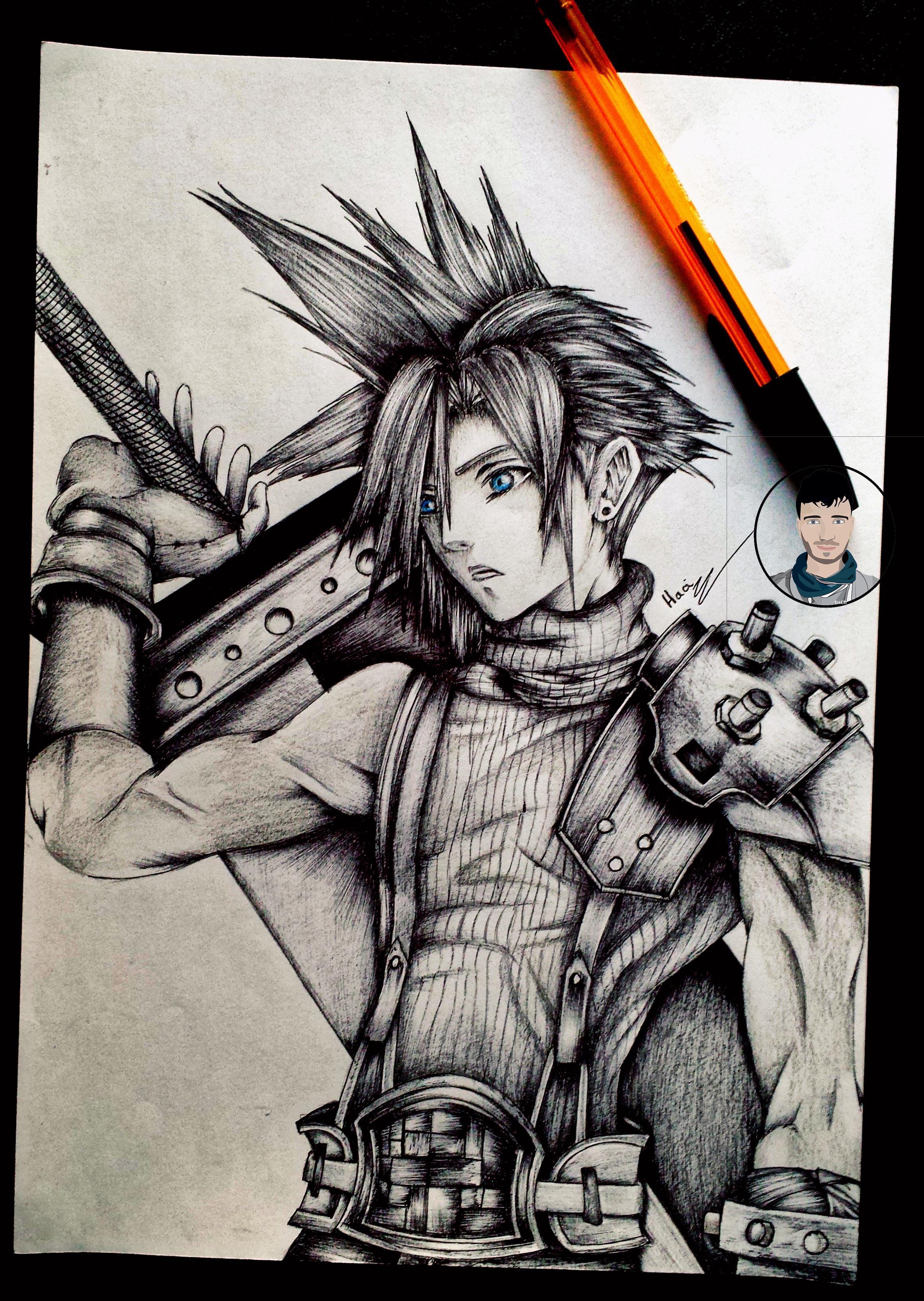 Final Fantasy 7 Cloud Drawings Anime Top Wallpaper