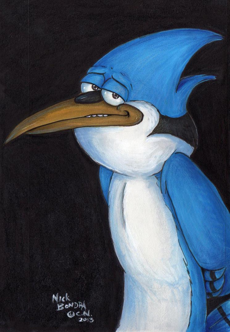 Mordecai of Regular Show Fame by Phraggle