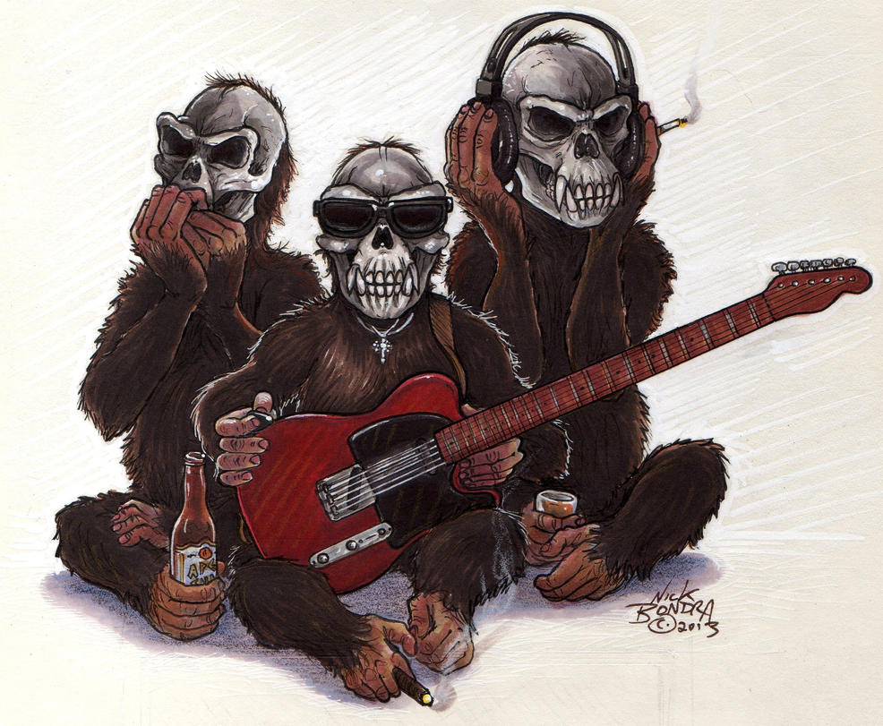 The Skull Monkees by Phraggle