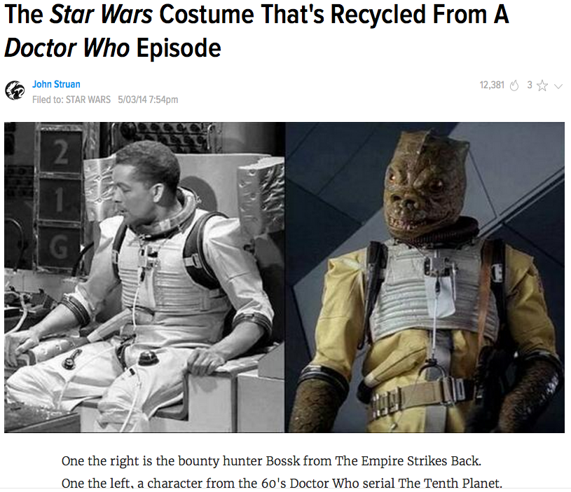 Bossk's Fashion Statement Isn't His Own by Phraggle
