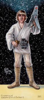 Luke Skywalker with T-16 Skyhopper Model