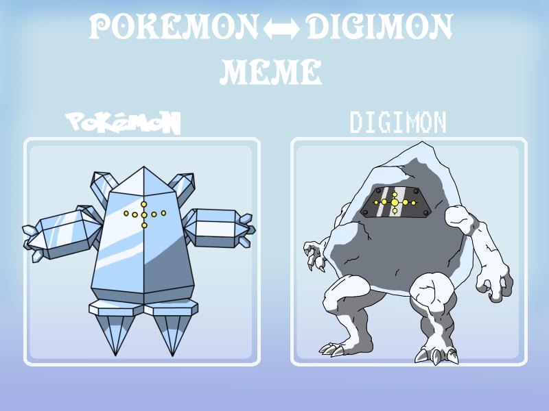 Poke Digi Meme Regice by BatterymanAAA