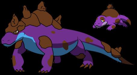 151 Poison Fakemon 33: Komodo Basilisk