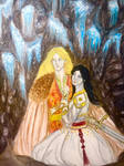 Felagund and Tinweriel  by Suzuranart