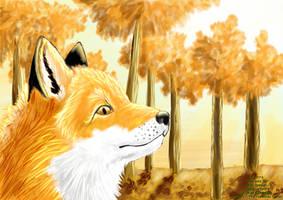 Fall Special - 24k golden fox by AlexKSFox