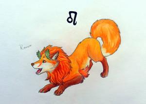 Zodiac fox drawing 03 - Leo