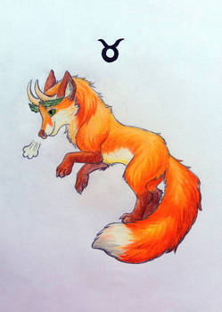 Zodiac fox drawing 04 - Taurus
