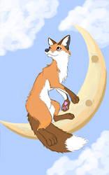 Pendulous moon - Foxtober 03