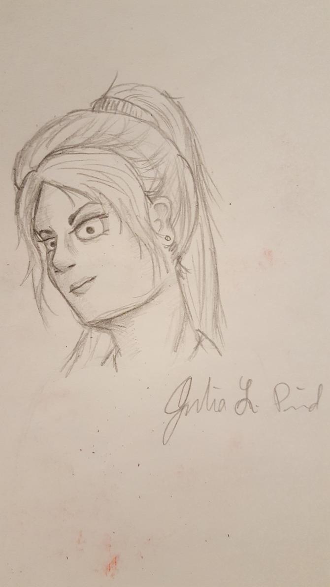 Lady Sketch by julezthepsycho