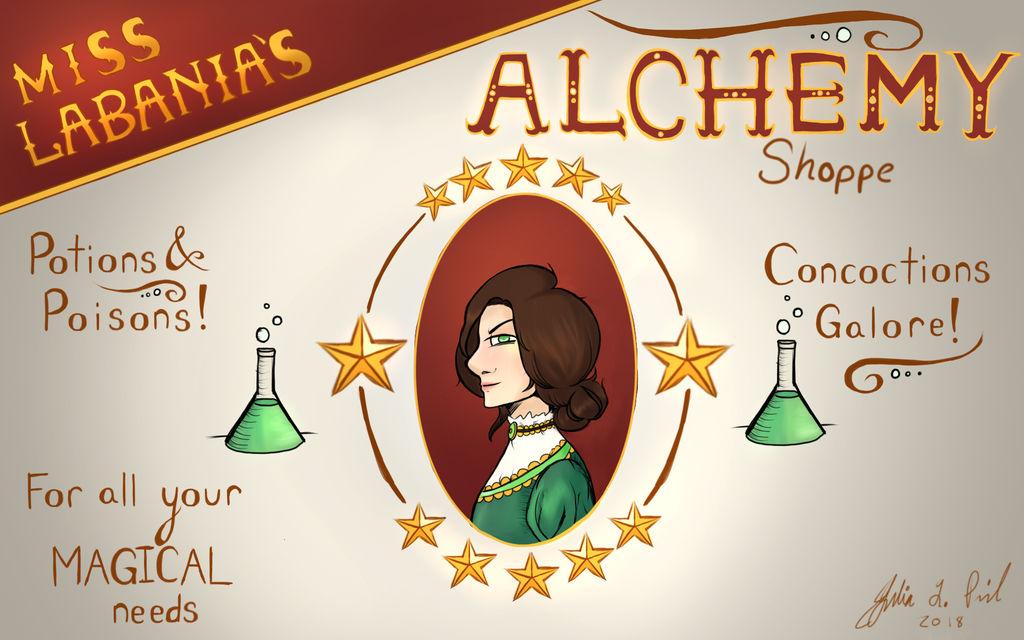 Alchemy Shop Advertisement by JulesintheRain