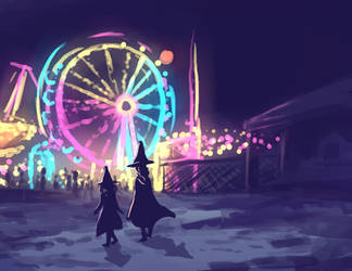 salem witches go to a carnival by ren-ram