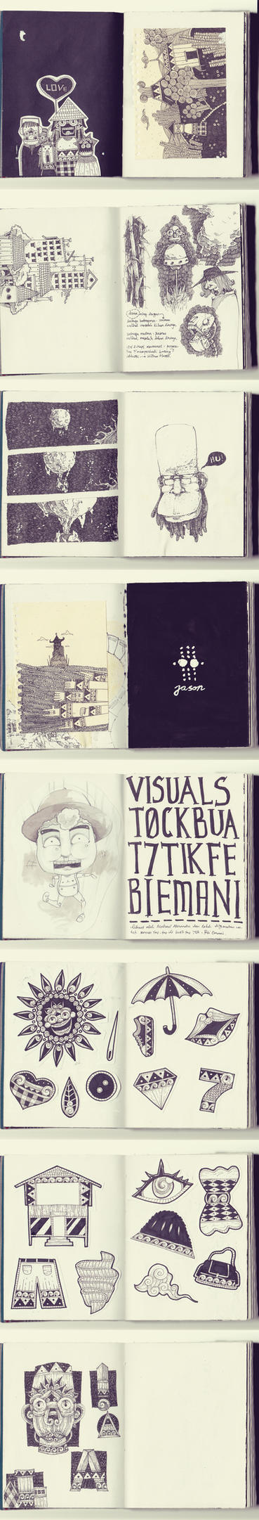 sketchbook drawings by BountyList