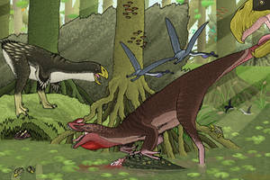 Theropod Versus Theropod by TrollMans