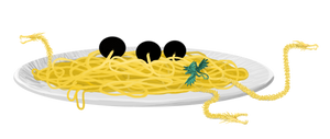 I'll have the spaghidorah and meatballs. by TrollMans