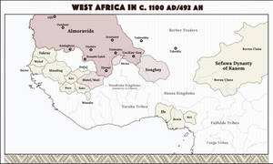 West Africa in 1100 CE