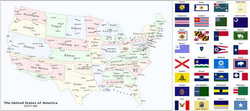 L O N G States of America by Upvoteanthology