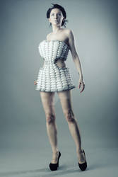 Futuristic balloon dress 3