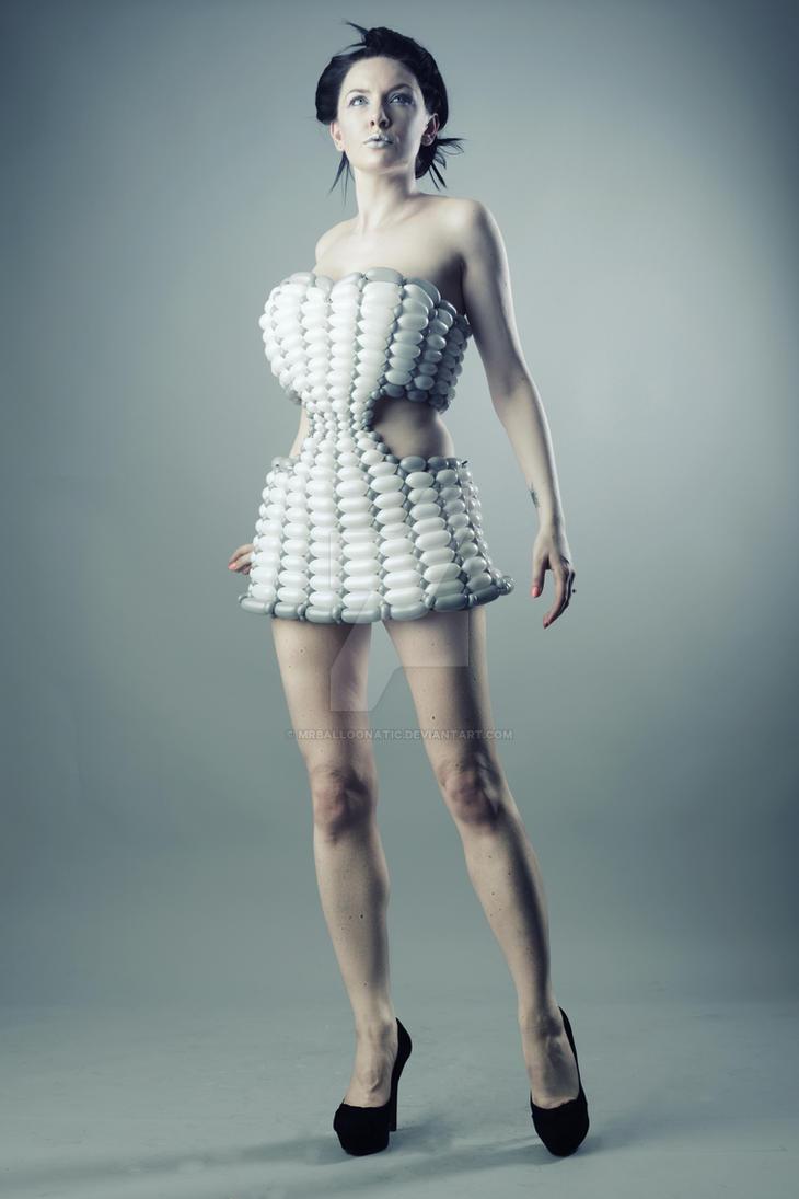 Futuristic balloon dress 3 by mrballoonatic