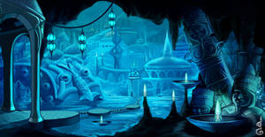 Blue dream of forgotten city