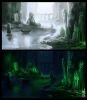 Concept Art : Scotland scene by DavinArfel