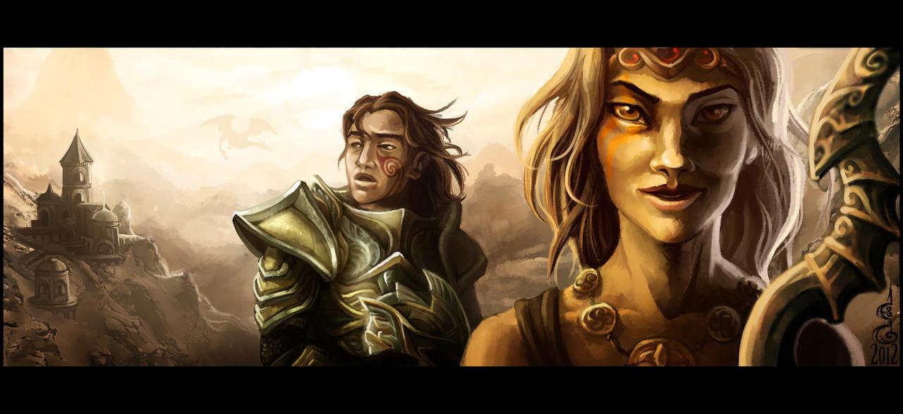 Golden Dovakhin by DavinArfel
