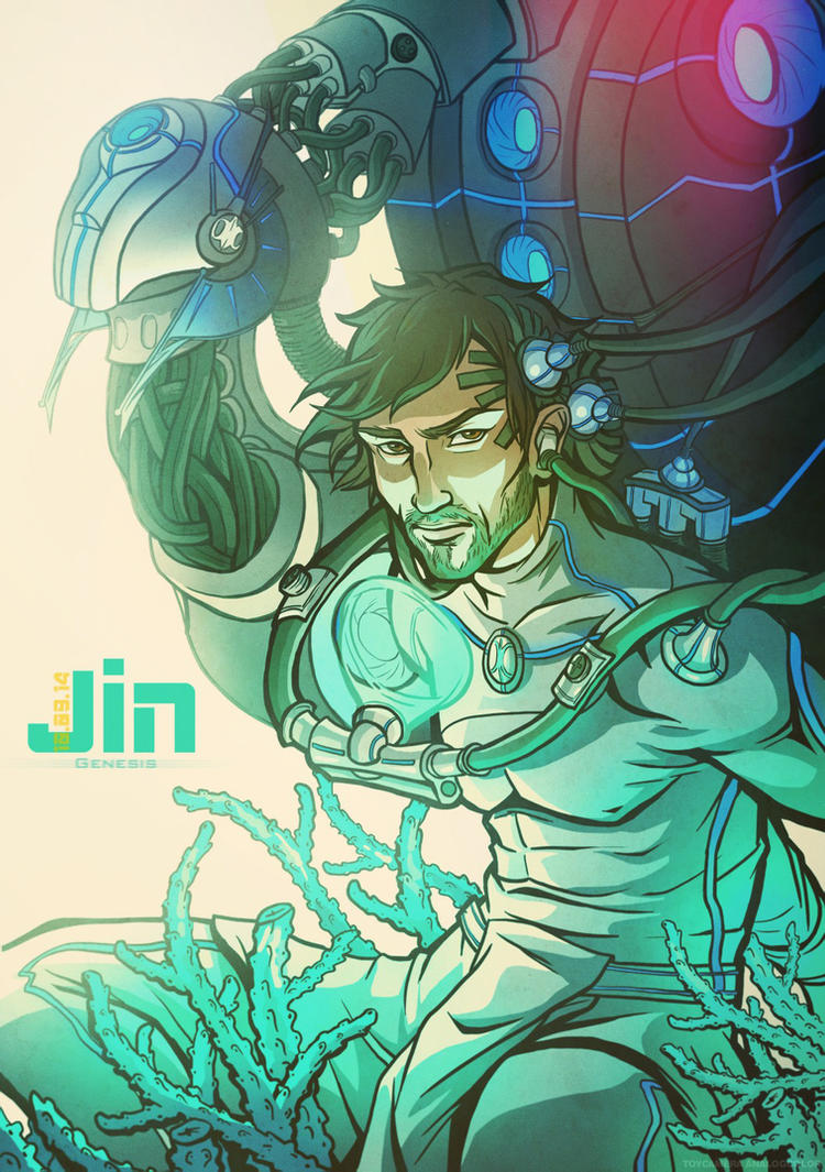 Jin Genesis - book cover 1 by DavinArfel