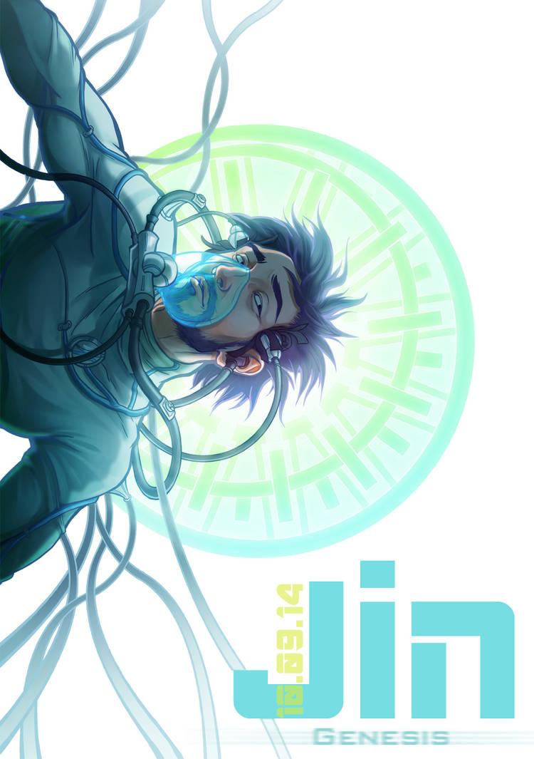Jin Genesis - Cover book 2 by DavinArfel