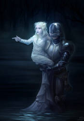 The little girl and the knight by DavinArfel