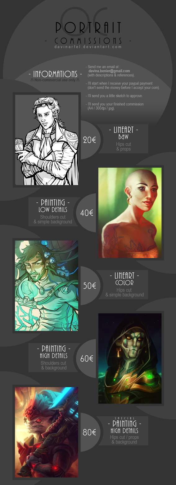 Commissions infos by DavinArfel