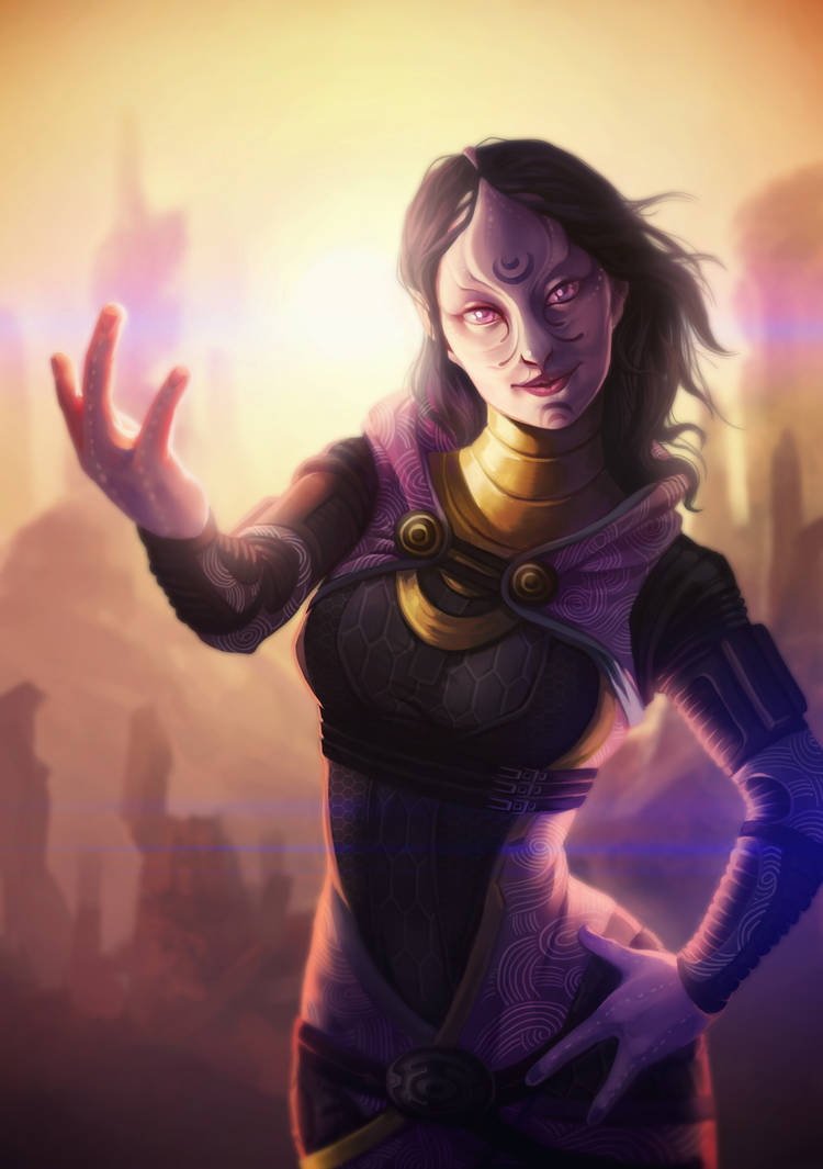 Commission - Tali'Zorah by DavinArfel