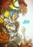 Jin Genesis - book cover 4 by DavinArfel