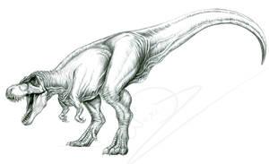 Roaring Tarbosaurus by ArtOfNoxis